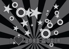 我爱摇滚乐 免版税库存图片