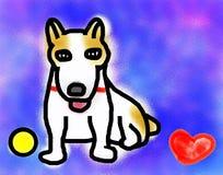 我爱杰克罗素狗 免版税库存照片