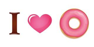 我爱桃红色多福饼 库存例证