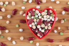我爱混杂的豆类豆 免版税图库摄影