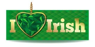 我爱爱尔兰语 向量例证