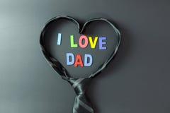 我爱爸爸 库存照片