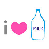 我爱牛奶 免版税图库摄影