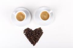 我爱由豆和咖啡做的咖啡 免版税库存照片