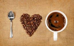 我爱的咖啡 免版税图库摄影