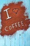 我爱的咖啡 免版税库存图片