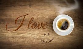 我爱的咖啡 库存图片