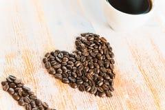 我爱的咖啡 库存照片