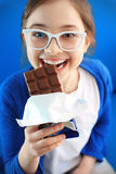 我爱的巧克力 图库摄影