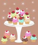 我爱的杯形蛋糕 皇族释放例证