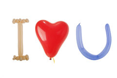 我爱的气球清楚地说明了您 库存图片