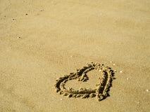我爱的海滩 免版税库存照片