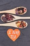 我爱茶概念 免版税库存图片