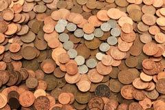我爱货币 免版税库存照片