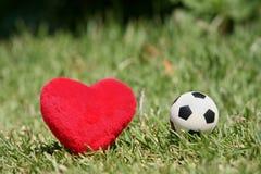 我爱足球 库存照片