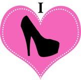 我爱鞋子性感的高跟鞋 免版税库存照片
