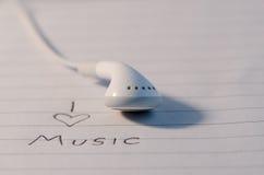 我爱音乐 库存照片
