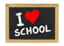 我爱黑板的学校 免版税库存图片