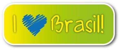 我爱巴西贴纸 库存图片