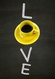 我爱caffee 库存图片