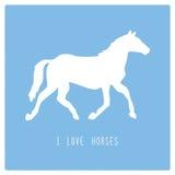 我爱horses2 库存照片