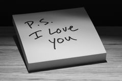 我爱p s您 免版税库存图片