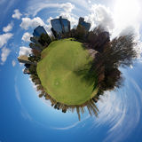 我的世界围绕高尔夫球 库存图片