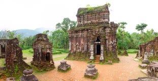 我的儿子印度寺庙全景 免版税库存图片
