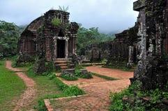 我的儿子寺庙废墟,越南 库存图片