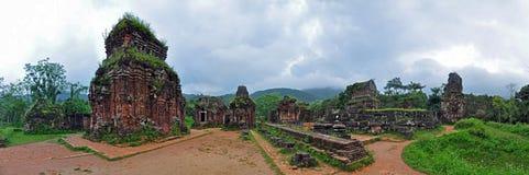 我的儿子寺庙废墟,越南 免版税库存图片