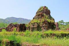 我的儿子,越南联合国科教文组织世界遗产名录 库存照片