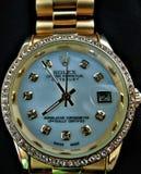 我的劳力士DATEJUST手表 免版税库存照片