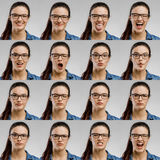 我的十六种心情 免版税库存照片