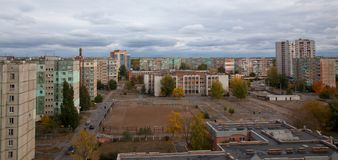 我的城市,我的秋天的区 库存照片