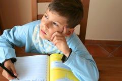 我的学校家庭作业 库存图片