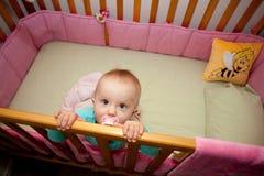 我的小儿床 免版税库存图片