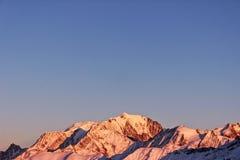 我的山,我的世界,勃朗峰 免版税图库摄影