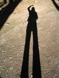我的影子 免版税库存照片