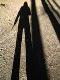我的影子 库存照片