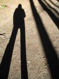 我的影子 图库摄影