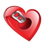 我的心脏是开放的 库存照片