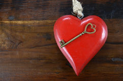 我的心脏概念的愉快的情人节钥匙 免版税图库摄影