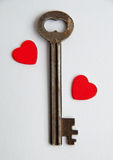 我的心脏的钥匙 免版税库存图片