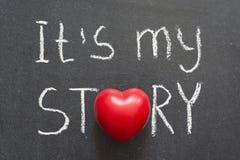我的故事 库存照片