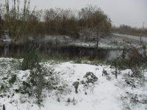 我的本土 1个冬天 免版税库存图片