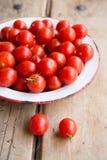 从我的果树园的西红柿 库存图片