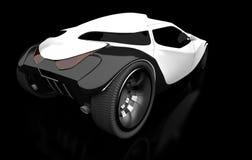 我的汽车的设计(黑背景) 免版税库存图片