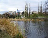 我的河城镇 免版税图库摄影