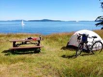我的温哥华骑自行车的和野营 图库摄影