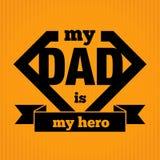我的爸爸是我的英雄 图库摄影
